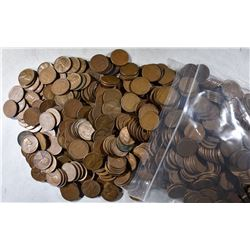 5000-MIXED DATE LINCOLN WHEAT CENTS