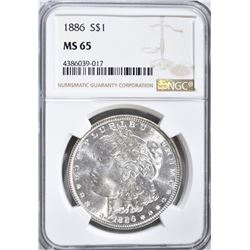 1886 MORGAN DOLLAR NGC MS 65