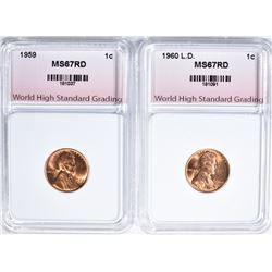 1959 & 1960 L.D. LINCOLN CENTS