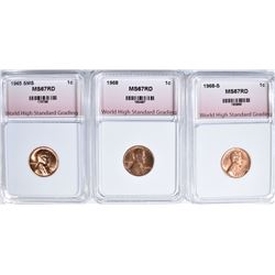 1965 SMS, 1968, 1968-S LINCOLN CENTS