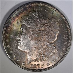 1878 7TF MORGAN DOLLAR CH BU COLOR
