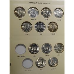 SET of NICE GEM BU FRANKLIN HALF DOLLARS