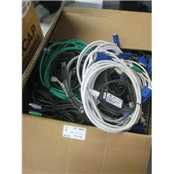 Box Lot Avocent 520-255-508 KVM Cables & Various Fiber Cabling
