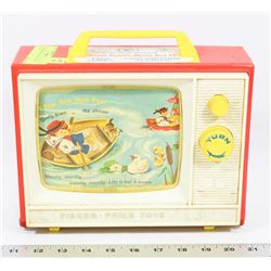 1966 FISHER PRICE GIANT SCREEN MUSIC BOX TV