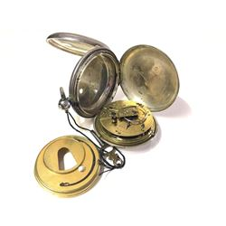 1853 Jos. Pemberton Sold Sterling Pocket Watch by R. Squire