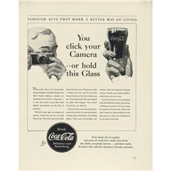 1940 Coca Cola Coke Click Your Camera Ad