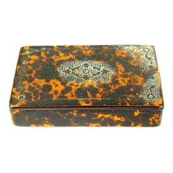 c.1790's Antique Faux Tortoise Shell Lacquered Wood Snuff Box