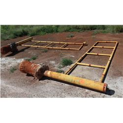 Heavy Duty Swinging Metal Road Gates