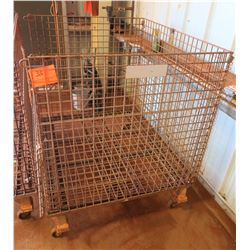 Wire Storage Box on Wheels, Forkliftable
