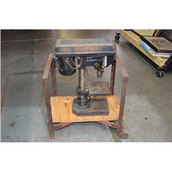 Industrial Cart (with casters) & Drill Press