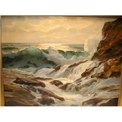 OIL ON CANVAS, WM EHRIG, (AMERICAN 1892-1973), SEASCAPE