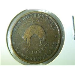 **** FEATURE COIN **** - R & I. S RUTHERFORD NEWFOUNDLAND - St. JOHN'S CANADA COLONIAL TOKEN
