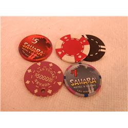 CASINO CHIPS & OTHER - 5 PC TTL