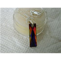 "NECKLACE - NEW SWAROVSKI 1"" PENDANT ON 18' STERLING SILVER CHAIN"