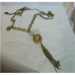 NECKLACE - WITH BALL & TASSLES