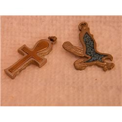 PENDANTS - 2 - INLAID - CROSS & EAGLE