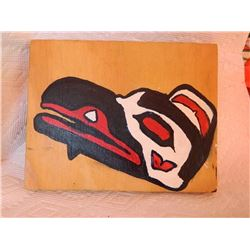 PLAQUE - NATIVE ART - SIGNED