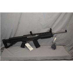 """Ruger Model Mini 14 .223 Cal Mag Fed Semi Auto Rifle w/ 18 1/2"""" bbl [ appears v - good, stainless fi"""
