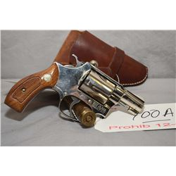Prohib 12 - 6 Smith & Wesson Model 37 Airweight .38 Spec Cal 5 Shot Revolver w/ 51 mm bbl [ nickel f