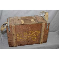RCAF CART SIG PRAC BOMB MK 4 MOD 4 Wooden Bomb Box with various markings and some torn stickers