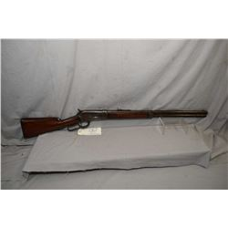 """Winchester Model 1886 .40 - 82 WCF Cal Lever Action Rifle w/ shortened to 24"""" bbl [ patchy fading bl"""