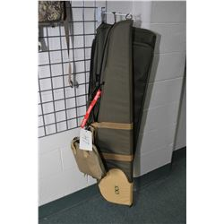 Lot of Four Quality Gun Cases : Bob Allen Green & Tan Zippered Rifle Case - Two Maxpedition Double P
