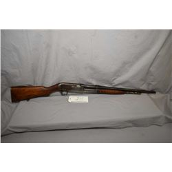 """Remington Model 14A .35 Rem Cal Pump Action Tube Fed Rifle w/ 22"""" bbl [ blued finish starting to fad"""