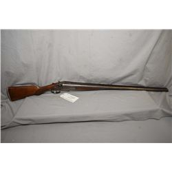 """L.C. Smith Model F .12 Ga Side By Side Hammer Shotgun w/ 32"""" Damascus pattern bbl with various marks"""