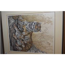 "Lot of Three Framed Pictures : Lg Framed Print of ""Elephant"" by Darren Haley 01 - Framed Limited Edi"