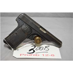Prohib 12 - 6 F.N. Browning Model 1910 7.65 MM Cal 7 Shot Semi Auto Pistol w/ 89 mm bbl [ fading blu