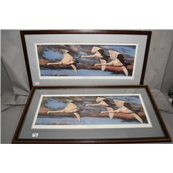 """Lot of Four Framed Pictures : Limited Edition Print No. 278/ 300 """"Twilight Vigil """" A. Halliburton ["""