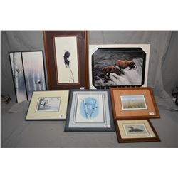 "Lot of Eight Framed Pictures : Limited Edition Print No. 113/ 450 ""The Gathering"" by Mel Dobson [ Ea"