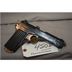 Restricted Steyr Model 1911 Dated 1917 . 9 MM Steyr ? Cal 8 Shot Semi Auto Pistol w/ 130 mm bbl [ re