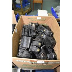 Box Lot : Approx. 60 Leather Double Pouches for Speed Loaders
