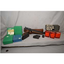 Tray Lot : Aimpoint Electronic Mark III in orig box - Lee Enfield .303 Brit Cal Mag - Ruger Mini 14