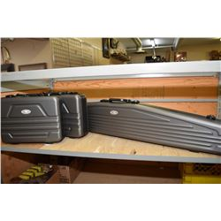 Lot of Three Bob Allen Hard Foam Lined Luggage Style Gun Cases [ One Rifle - Two Handgun ]