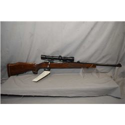 Parker Hale Safari Super 243win cal mag fed bolt action rifle fitted with weaver k4-c3 optic, checke