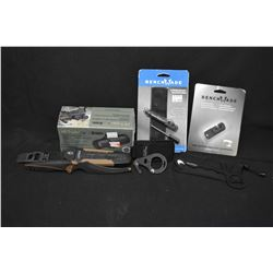 Brand new in box Burris AR Tripler, selection of new Bench Made items including Rescue hook, two sha
