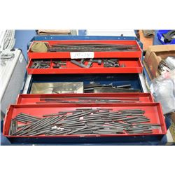 Portable metal tool box with selection of M-14 parts including springs, pins etc.