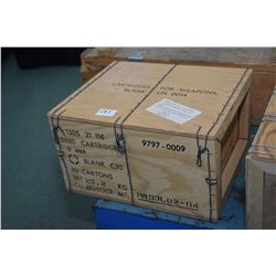 Vacuum sealed crate 2880 count of 9mm blanks