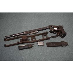 Selection of collectible heavy military firearms parts