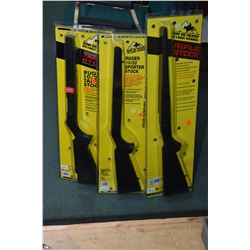 Three new in package Butler Creek rifle stocks including RS10 for Ruger 1022, RT10 for Ruger 1022 an