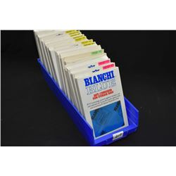 Sixteen packages of Bianci Blue anti-corrosion bags in assorted sizes
