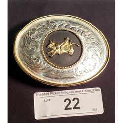 Mexican Taxco Westerb Belt Buckle, Marked .925