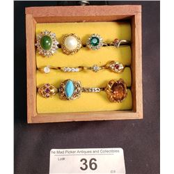 Lot of 12 Costume Jewelry Rings