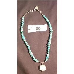 """16"""" Freshwater Pearl & Silver Necklace w/ Silver Pendant"""