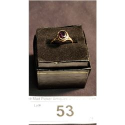 10K Gold Ring w/ Amethyst, Size 7