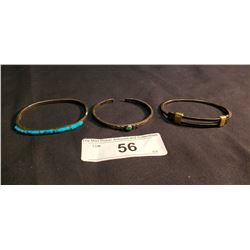 3 Mexican Bracelets, 2 marked .925