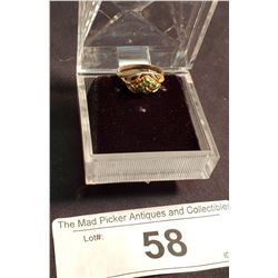 14K Woman's Ring w/ 4 Emeralds