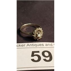 Vintage Diamond Ring Marked 7K